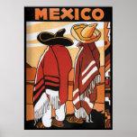 Mexicanos Zarapes del poster del viaje del ~ de Mé