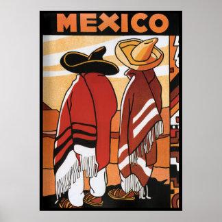 Mexicanos Zarapes del poster del viaje del de Mé