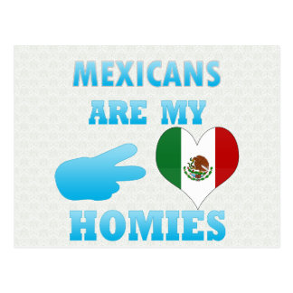 Mexicans are my Homies Postcard