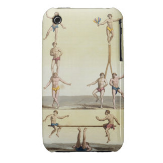 Mexicans Performing Gymnastics (colour litho) iPhone 3 Cover