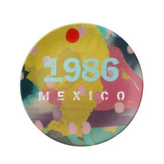 MEXICO 1986 PORCELAIN PLATE