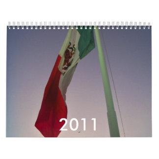 México 2011 calendarios de pared