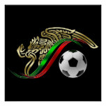 Mexico 2014 Mexican flag World Soccer futbol Posters