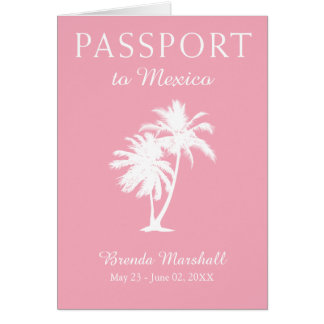 Mexico 21ST Birthday Pink Passport Card