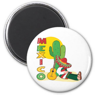 Mexico 2 Inch Round Magnet