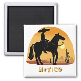 Mexico 2 Inch Square Magnet