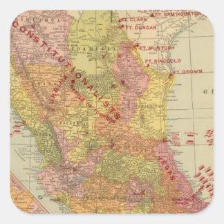 México 9 pegatina cuadrada