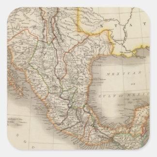 Mexico and Guatemala 2 Square Sticker