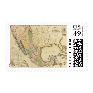 Mexico and United States Postage Stamp