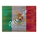 México apenó la bandera mexicana postales