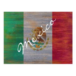 México apenó la bandera mexicana tarjeta postal