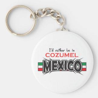 MEXICO APPLIQUE COZUMEL KEYCHAIN