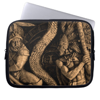 Mexico  aztec warrior laptop computer sleeve
