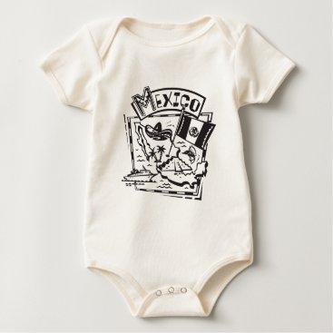 Aztec Themed Mexico Baby Bodysuit