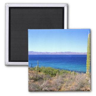Mexico, Baja California Sur, Mulege, Bahia 2 2 Inch Square Magnet