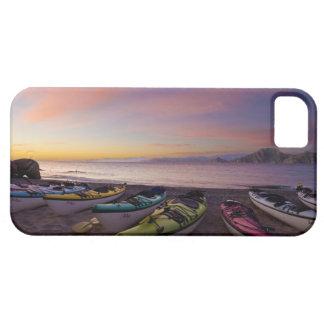 México, Baja, mar de Cortez. Kajaks del mar y iPhone 5 Carcasas