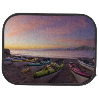 Mexico, Baja, Sea of Cortez. Sea kayaks and Car Floor Mat