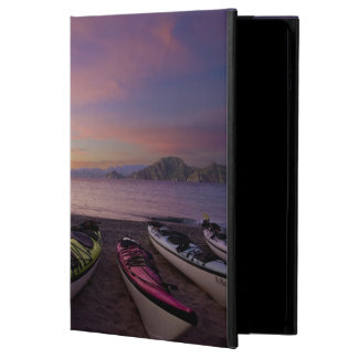 Mexico, Baja, Sea of Cortez. Sea kayaks and Case For iPad Air