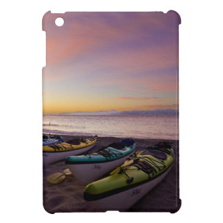 Mexico, Baja, Sea of Cortez. Sea kayaks and Cover For The iPad Mini