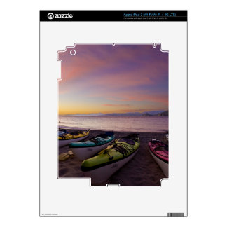 Mexico, Baja, Sea of Cortez. Sea kayaks and Decals For iPad 3