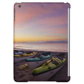 Mexico, Baja, Sea of Cortez. Sea kayaks and iPad Air Cover
