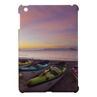 Mexico, Baja, Sea of Cortez. Sea kayaks and iPad Mini Cover