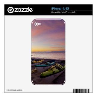Mexico, Baja, Sea of Cortez. Sea kayaks and iPhone 4S Skin