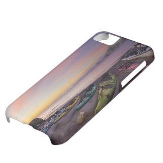 Mexico, Baja, Sea of Cortez. Sea kayaks and iPhone 5C Case