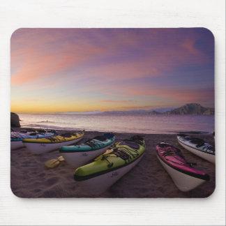 Mexico, Baja, Sea of Cortez. Sea kayaks and Mouse Pad