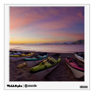 Mexico, Baja, Sea of Cortez. Sea kayaks and Wall Decal
