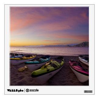 Mexico, Baja, Sea of Cortez. Sea kayaks and Wall Decal