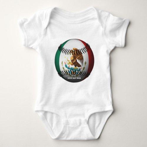 Mexico Baseball Baby Bodysuit