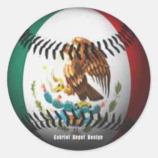 Mexico Baseball Round Sticker