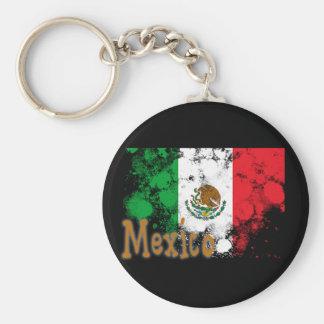 Mexico Basic Round Button Keychain