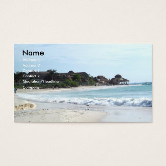 Mexico beach business card