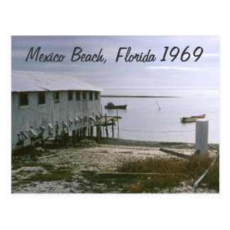 Mexico Beach, Florida 1969 Seascape Postcard