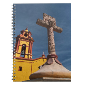 Mexico, Bernal. View of Iglesia de San Sebastian Notebook