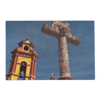 Mexico, Bernal. View of Iglesia de San Sebastian Placemat