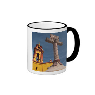 Mexico, Bernal. View of Iglesia de San Sebastian Ringer Mug