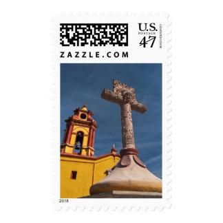 Mexico, Bernal. View of Iglesia de San Sebastian Stamp