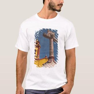 Mexico, Bernal. View of Iglesia de San Sebastian T-Shirt