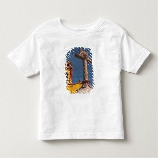Mexico, Bernal. View of Iglesia de San Sebastian Toddler T-shirt