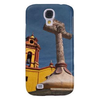 México, Bernal. Vista de Iglesia de San Sebastián Funda Para Galaxy S4