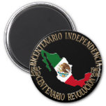 México bicentenario y celebración del centenario iman de nevera