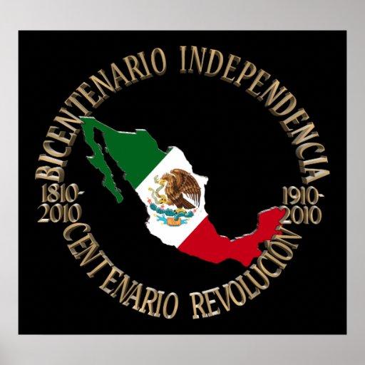 México bicentenario y celebración del centenario impresiones