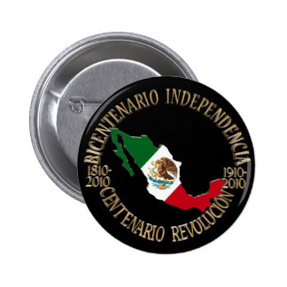 México bicentenario y celebración del centenario pin