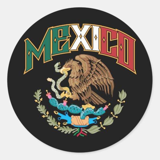Mexico Big and Bold Classic Round Sticker