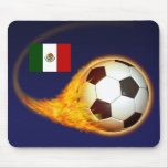 Mexico Blazing Soccer Mouse Pad