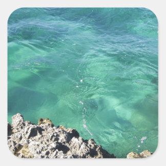 Mexico Blue/Green Ocean Square Sticker