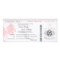 Mexico Boarding Pass Destination Wedding 4x9.25 Paper Invitation Card (<em>$3.25</em>)